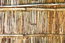 Free Old Bamboo Wall Royalty Free Stock Images - 14310329
