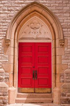 Free Red Church Door Stock Images - 14310554