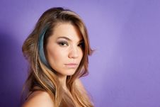 Young And Beautiful Woman Stock Photography