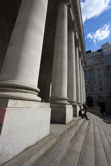 Free Columns Of A Building In London Royalty Free Stock Photo - 14310585