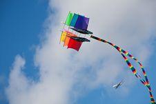 Rainbow Ship Kite Royalty Free Stock Photos