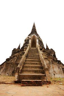 Free Ancient Temple Ruin In Ayuttaya, Thailand Stock Photo - 14310810