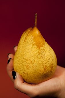 Holding A Pear Stock Images