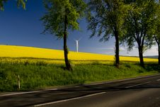 Free Windmill At The Road Royalty Free Stock Image - 14311406