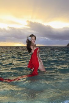 Free Forty Year Old Woman In The Ocean Stock Photo - 14311590