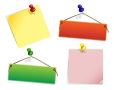 Free Colored-papers And Pins Stock Image - 14311671