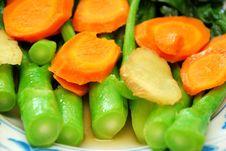 Closeup Of Chinese Kai Lan Vegetables Stem Royalty Free Stock Images
