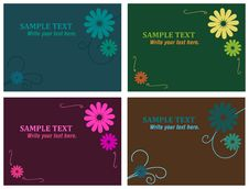 Free 3x4 Cards With Flowers Stock Photos - 14312223