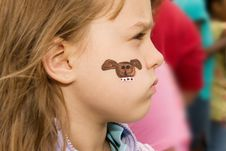 Free Child With Face Paint Stock Images - 14312564