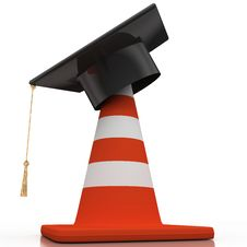 Bachelor S Hat And Cone Royalty Free Stock Photos