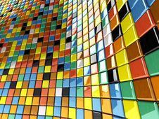 Free Wall Of Mosaic Stock Images - 14313074