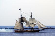 Free Tall Ship Smoke Back Royalty Free Stock Images - 14313099