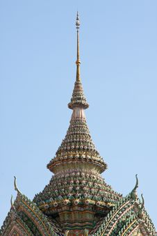 Free Art Design On Roof In Temple Thai Royalty Free Stock Photography - 14313177