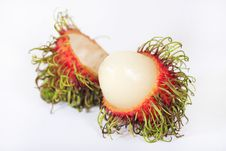 Free Tropical Fruit Rambutan Isolated Royalty Free Stock Image - 14313426