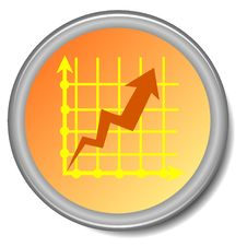 Color Button Of Growth Royalty Free Stock Image