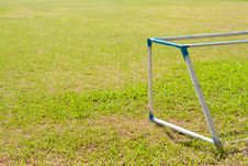 Free Goal On The Yard Stock Image - 14313591