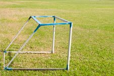 Free Goal On The Yard Stock Image - 14313631