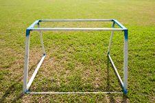 Free Goal On The Yard Stock Image - 14313651