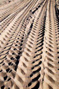 Sand Tracks Stock Image