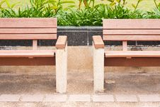 Free Bench On The Sidewalk Stock Images - 14313734