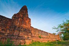 Free Wall Of Nakornluang Castle Stock Images - 14313784