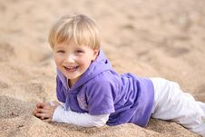 Free Baby On The Beach Stock Images - 14313884