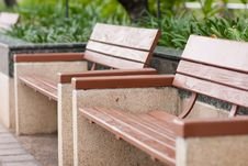 Free Bench On The Sidewalk Stock Images - 14313914