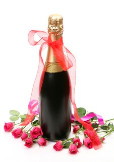 Free Champagne And Roses Stock Image - 14314091