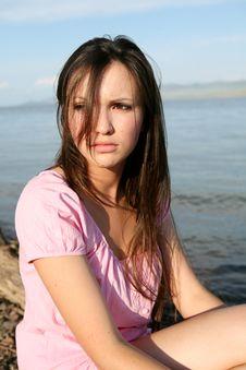Free The Girl On Coast Stock Photo - 14314290