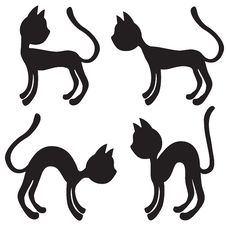 Set Of Cats Stock Photography