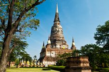 Free Ancient Temple In Ayutthaya. Royalty Free Stock Photo - 14314525