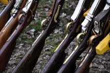 Free Flintlock Rifle With Royalty Free Stock Images - 14314619