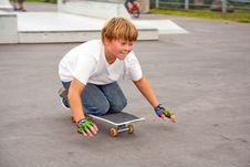Free Boy Riding Skate Board Stock Photos - 14314793