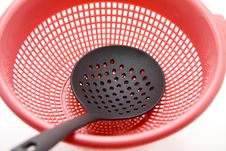 Ladle With Sieve Royalty Free Stock Photography