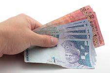 Free Hand Holding Cash Stock Image - 14315711