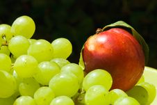 Free Nectarine And Grape Stock Photography - 14316812