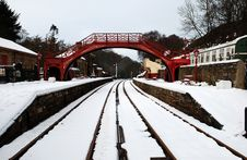 Free Snow At Goathland Railway Station Royalty Free Stock Photo - 14317035
