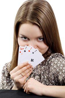 Free Four Aces Royalty Free Stock Photo - 14317515