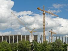 Free Cranes Royalty Free Stock Photography - 14317557