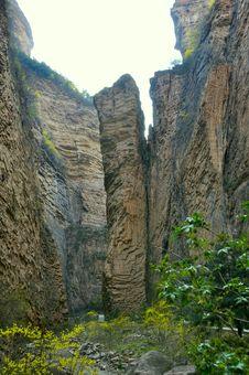 Rocks From Shanxi Banshan Stock Photo