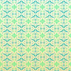 Seamless Ornamental Wallpaper, Floral Pattern Royalty Free Stock Photo