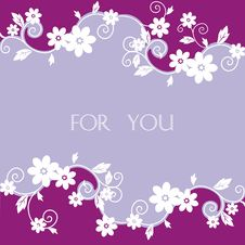 Free Flower Postcard Royalty Free Stock Photos - 14317948