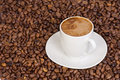 Free Ceramic Cup At Coffee Beans Stock Photos - 14323703