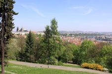 The Panoramic View On Spring Prague Royalty Free Stock Image