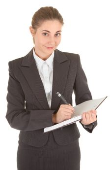Free Business Woman With Papers Royalty Free Stock Image - 14320316