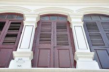 Free Sino-Portugese Windows Royalty Free Stock Photo - 14320495