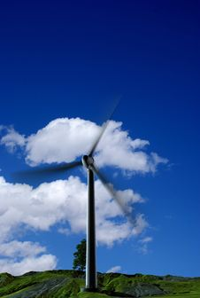 Free Energy Of Wind Royalty Free Stock Photography - 14320527