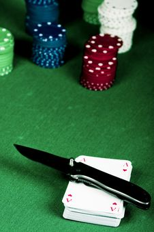 Poker And Knife Royalty Free Stock Photo