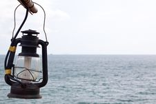Free Old Lamp At The Sea. Royalty Free Stock Photos - 14321428