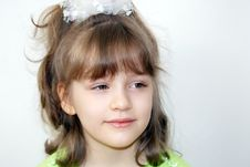 Free The Smiling Girl Stock Photography - 14321732